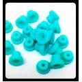Нипеля (громметы) силиконовые, фиолетовые 100шт