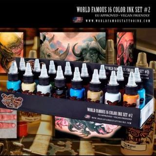 Набор пигментов World Famous 16 Color Ink Set #2