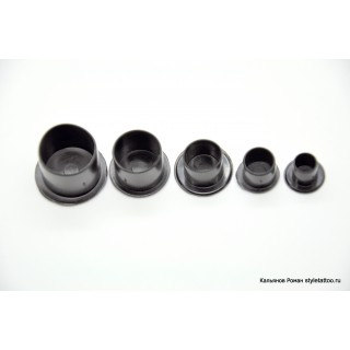 Колпачки для краски черные 8 мм. 1000шт